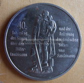 om287 - East German 10 Marks issued coin - c1985 40 years anniversary of the end of WW2