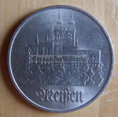 om280 - 3 - East German 5 Marks issued coin - c1972 City of Meissen
