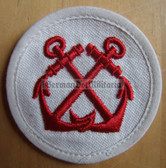om184 - Volksmarine Navigation Specialist Sleeve Patch for EM & NCO - white