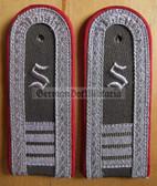 sblarx018 - embroidered S - OFFIZIERSSCHUELER YEAR 4 - Artillerie - Artillery - pair of shoulder boards