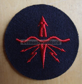 om239 - 2 - Volksmarine Hydroakustik - Underwater Listening Specialist Sleeve Patch for EM & NCO - blue