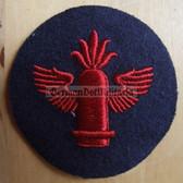 om234 - 2 - Volksmarine Artillerie - Artillery Specialist Sleeve Patch for EM & NCO - blue