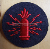 om233 - Volksmarine Waffenleit - Weapons Guidance Specialist Sleeve Patch for EM & NCO - blue