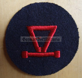 om230 - Volksmarine E-MESS - Trigonometry Specialist Sleeve Patch for EM & NCO - blue