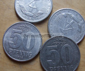 om110 - 20 - East German 50 Pfennig money coin - issued