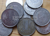 om112 - 34 - East German 1 Mark money coin - circulated