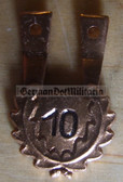 om247 - 9 - NVA Fallschirmjäger Paratrooper jump badge hanger - 10 jumps