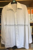 wo096 - East German Army & Volksmarine & Grenztruppen white uniform shirt for career soldiers to be worn under jackets - different sizes available