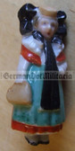 whw006 - WHW Winterhilfswerk German Traditional Dress series - ceramic figure badge