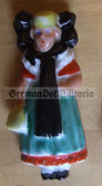 whw008 - WHW Winterhilfswerk German Traditional Dress series - ceramic figure badge