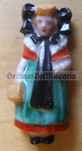 whw009 - WHW Winterhilfswerk German Traditional Dress series - ceramic figure badge