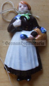 whw015 - WHW Winterhilfswerk German Traditional Dress series - ceramic figure badge