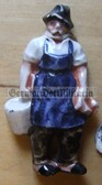 whw026 - WHW Winterhilfswerk German Worker Jobs series - ceramic figure badge