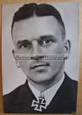 kmpc021 - Kriegsmarine Knights Cross recipient portrait postcard