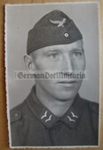 lwpc027 - Luftwaffe soldier studio portrait photo with Overseas Hat