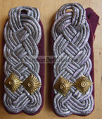 sbzv026 - OBERSTLEUTNANT - ZV Zivilverteidigung Civil Defence - pair of shoulder boards