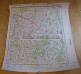 wd029 - original East German NVA Army tactical map - c1983 WITTSTOCK