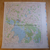 wd036 - original East German NVA Army tactical map - c1989 WAREN