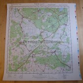 wd038 - original East German NVA Army tactical map - c1988 TREUENBRIETZEN
