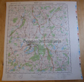wd041 - original East German NVA Army tactical map - c1989 GUESTROW