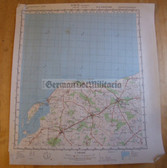 wd045 - original East German NVA Army tactical map - c1985 BAD DOBERAN