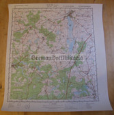 wd053 - original East German NVA Army tactical map - c1985 PRENZLAU
