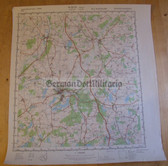 wd062 - original East German NVA Army tactical map - c1989 GUESTROW
