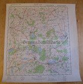 wd063 - original East German NVA Army tactical map - c1988 BUETZOW