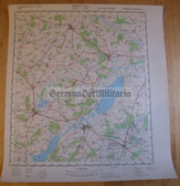 wd065 - original East German NVA Army tactical map - c1989 TETEROW