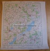 wd065 - original East German NVA Army tactical map - c1989 TETEROW