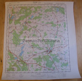 wd068 - original East German NVA Army tactical map - c1988 PARCHIM