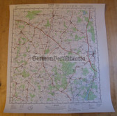 wd070 - original East German NVA Army tactical map - c1988 WITTSTOCK