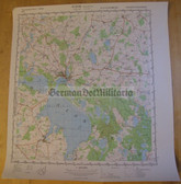 wd075 - original East German NVA Army tactical map - c1989 WAREN