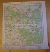 wd078 - original East German NVA Army tactical map - c1988 LOBURG