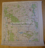 wd079 - original East German NVA Army tactical map - c1988 KYRITZ