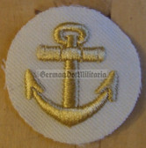 om827 - Volksmarine KUESTENDIENST coastal service Sleeve Patch for Officers - white