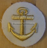 om827 - Volksmarine KUESTENDIENST coastal service Sleeve Patch for Officers - white