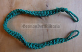 om342 - 5 - Volkspolizei VoPo East German Police green whistle lanyard