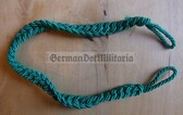 om342 - 6 - Volkspolizei VoPo East German Police green whistle lanyard