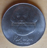 om336 - 2 - East German 20 Marks issued coin - c1983 100th anniversary of the death of Karl Marx