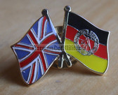 om402 - 97 - East Germany GDR DDR - Great Britain UK Union Jack - lapel flag pin - different designs available