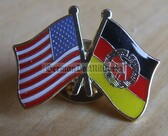 om403 - East Germany GDR DDR - USA Star Spangled Banner - lapel flag pin - different designs available