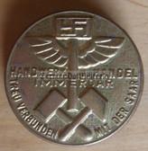 om143 - HANDWERK UND HANDEL IMMERDAR - TREU VERBUNDEN MIT DER SAAR tinnie badge