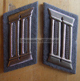 sbbs081 - pair of Prison Service Strafvollzug Officer Uniform Collar Tabs