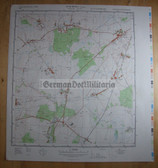 wd089 - original East German NVA Army tactical map - c1988 PAMPOW