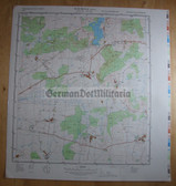 wd090 - original East German NVA Army tactical map - c1988 DUEMMER