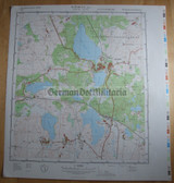 wd098 - original East German NVA Army tactical map - c1988 WARIN
