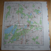 wd099 - original East German NVA Army tactical map - c1988 HOHEN VIECHELN