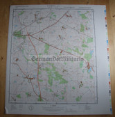 wd102 - original East German NVA Army tactical map - c1988 ZUROW