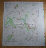 wd103 - original East German NVA Army tactical map - c1988 NEUBURG STEINHAUSEN